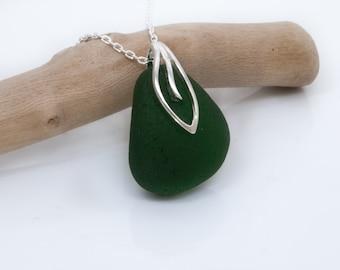 Sea Glass Necklace | Sea Glass Jewelry | Sterling Silver Seaglass Jewellery | Sea glass pendant | Genuine Seaham Seaglass