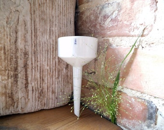 Antique Funnel White Porcelain Funnel Kitche Strainer Lab Equipment Filtration Collectible