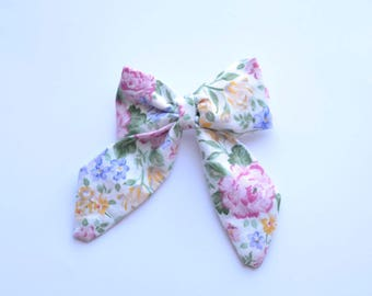 Watercolor Floral Bow