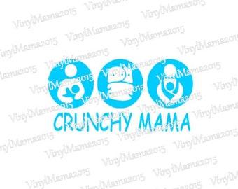Crunchy Mama Decal - Babywearing Decal