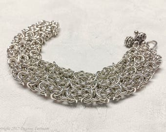 Sterling Silver Byzantine Weave Bracelet