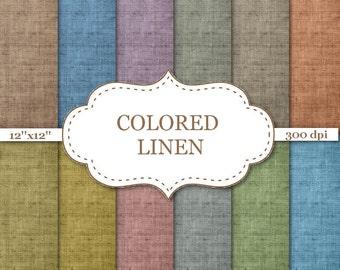 "COLORED LINEN digital paper Canvas Digital Paper Canvas Texture Linen Fabric Texture Linen background Fabric Digital Papers 12""x12"" #P026"