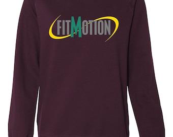 FitMotion ladies crew neck raglan sleeve sweatshirt
