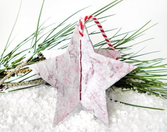 Christmas paper star ornaments, handmade christmas ornaments, minimalist Christmas, Christmas decor, Christmas stars, white Chistmas