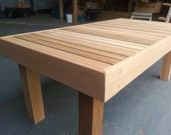 Cedar Bench, Love Bench, Cedar Coffe Table, Wooden Outdoor Table, Cedar  Outdoor