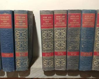 Funk and Wagnalls 1946 New Standard Encyclopedia - 26 volumes