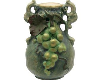 19th c. Teplitz Amphora Austrian Pottery Vase