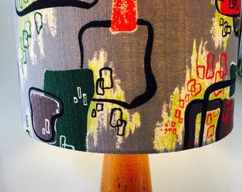 Vintage Fabric covered lampshade.