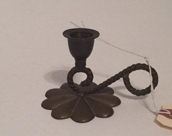 Vintage Brass Candle Holder