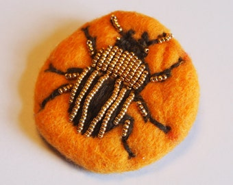 Broches insecte fait main