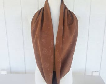 Infinity Scarf - Scarves - Accessories - Beige Scarf - Scarf - Loop Scarves -Brown Scarf - Upcycled Scarf - Vintage Scarf - Scarf