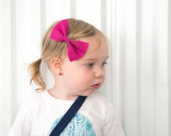 Choose one pinch bow or set of three, baby hair bows, hair bow set, pink hair bow, purple hair bow, teal hair bow, toddler hair bows