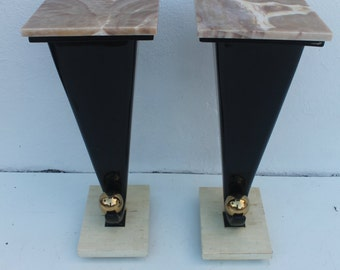 Vintage Maitland - Smith Pedestals  A - Pair .