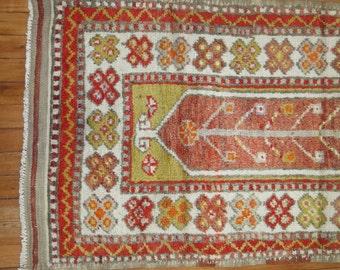 Vintage Turkish Oushak Anatolian Rug Size 2'4''x4'8''