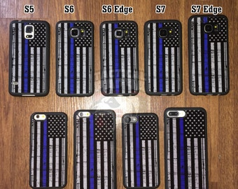 Thin Blue Line iPhone & Galaxy Case (Police Lives Matter)