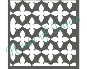 Moroccan Tile Stencil (Style 2) - 12x12