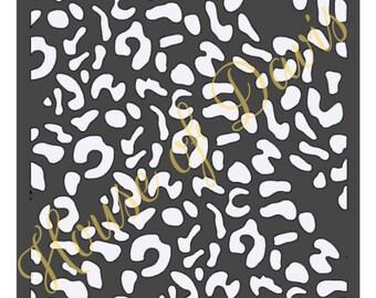 Cheetah Stencil - 12x12