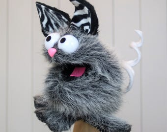 Hand Puppet - Animal Puppet - Kitty, Mouse, Bunny Puppet (All in one) Interchangeable Parts Puppet Hand Puppet!