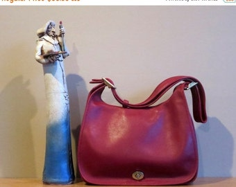 Football Days Sale Coach Legacy Crescent Flap Red Leather Shoulder Bag Style No. 9718 - Excellent Used Condition Made in U.S.A.