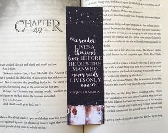A Reader Lives A Thousand Lives Bookmark
