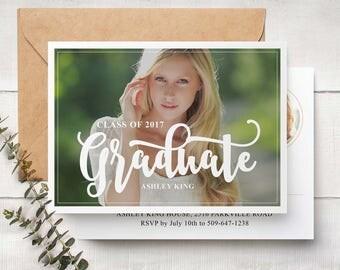 Graduation Announcements Templates - Senior Graduation Templates - Photography Photoshop Templates PSD G007