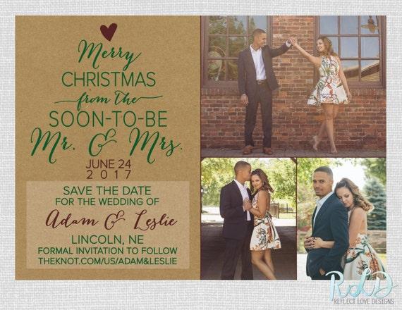 christmas photo card wedding save the date digital printable