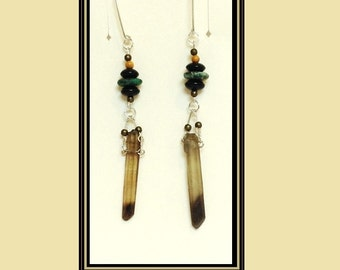 Smoke Stick - dangle earrings for stretched lobes