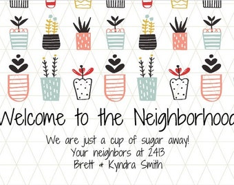 Welcome Neighbor Wine Label *Free Shipping*