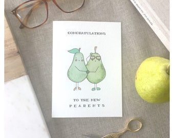 PARENTS CARD // baby shower card, funny baby card, baby shower card, funny baby shower card, expecting card, new parents, newborn card, pun