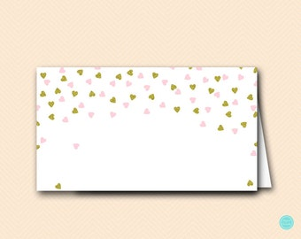 Pink and Gold Tent Labels. Food Tent Labels, Gold Bridal Shower Labels, Bridal Shower Decorations, baby shower decorations TLC488P BS488