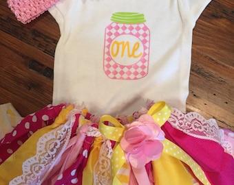 Pink lemonade birthday outfit