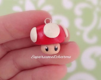 Polymer Clay Mario Power Up Charm