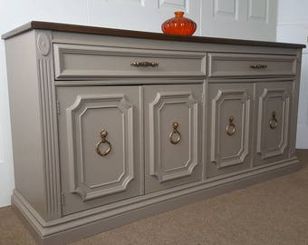 SOLD --- Buffet table / sideboard / two tone credenza