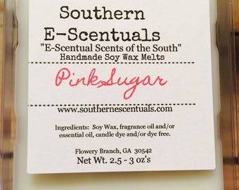 Pink Sugar Wax Melt, Wax Tart, Cotton Candy, Breakaway Wax Cubes, Wickless Candle, Candle Wax Melts, Stocking Stuffer, Gifts under 5