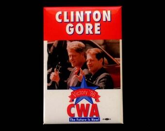 Clinton Gore CWA - Campaign Pin - Presidential Elections - 1996 - Political Race - Collectibles -Democratic Party - Political Button