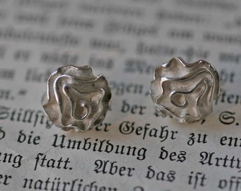 Flowers solid 925 Silver Earring pair
