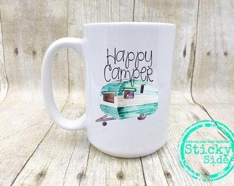 Happy Camper | Camper | Camping | Camping Mug | Happy Camper Mug | Camper Coffee Mug | Adventure Mug | Camping Adventure | Coffee Mug Camper