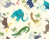 Wild Things - Cream - HELLO WORLD  - by Abi Hall for Moda Fabrics  - Childrens - Multi - 35301 11
