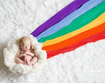 Rainbow Baby Set, Knitted Wrap Set, Newborn Stretch Wrap ,Photo Prop, Newborn Wrap,Stretch Wrap, Stretchy Wrap, Photography Props [6 Wraps]