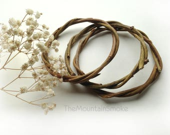 FREE SHIPPING Natural willow hoops for dreamcatcher DIY set of 3 pieces