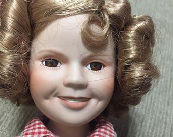 Rebecca of Sunnybrook Farm Shirley Temple Porcelain Doll Danbury Mint