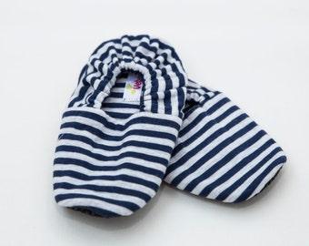 Navy Stripes VeberBaby Non-Slip Slippers