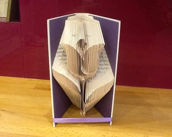 Tulip folded book art