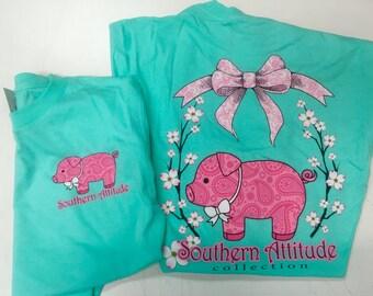 Southern Attitude Cotton Pig tee shirt NEW