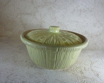 ON SALE 20% Off! Awesome Small McCoy Chartreuse Color Casserole-Excellent Condition!!