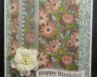 Floral Birthday Card 1533
