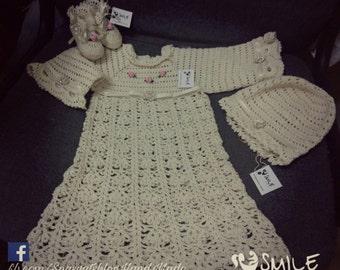 Girl's crocheted dress