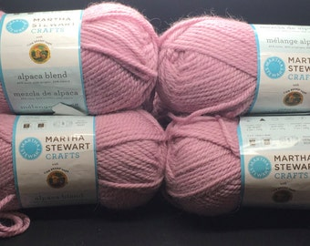 Martha Stewart  Alpaca Blend Lion Brand Yarn  502 Foxglove Lot # 46266