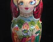 Finely Detailed Signed Matryoshka Dolls/Russian Dolls/Nesting Dolls