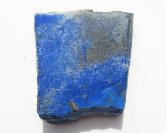 Thick Lapis slab Lapis Lazuli rough natural slab with pyrite focal stone slab Lapis Stone Slab